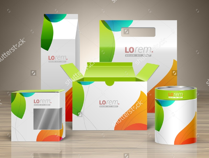 promotional package box mock up