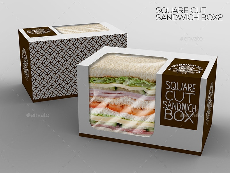 take out packaging mock up