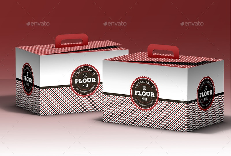 pastry take out packaging mock up