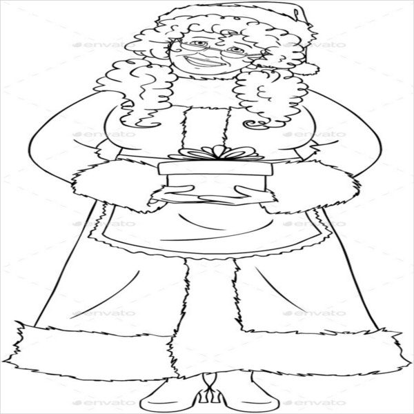 christmas santa claus coloring page