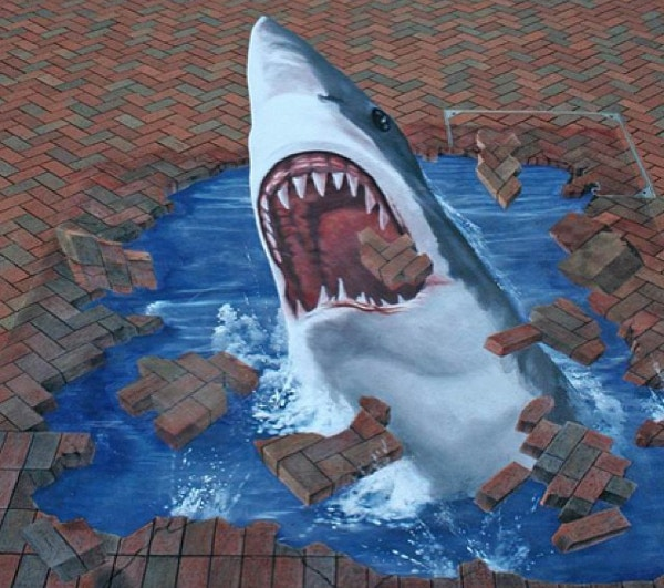 illusion-of-shark-on-street