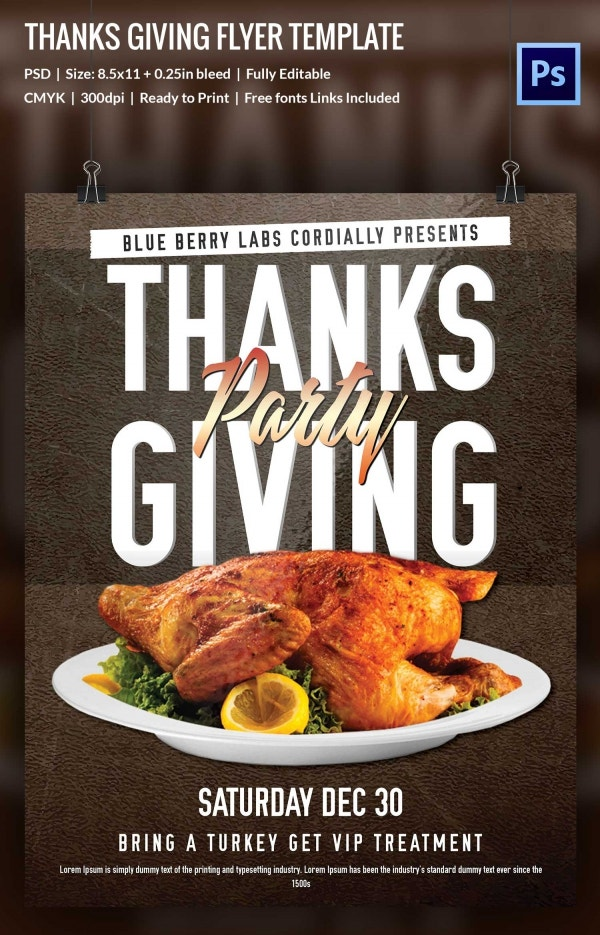 This is a photo of Mesmerizing Free Printable Thanksgiving Flyer Templates