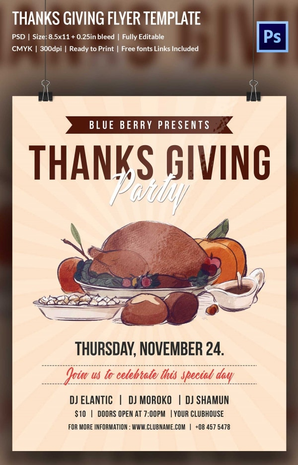It is a photo of Modest Free Printable Thanksgiving Flyer Templates