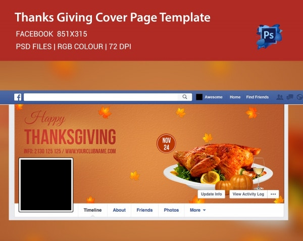 Happy Thanksgiving Social Cover Page