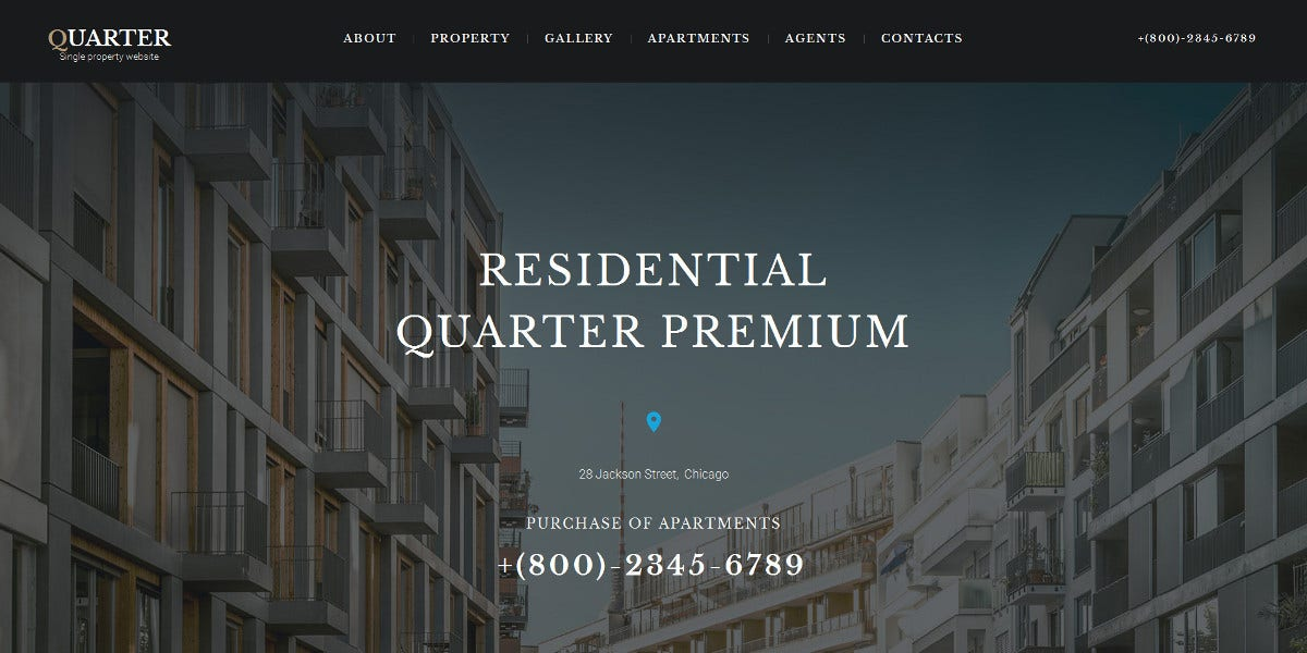 Premium Realtor Moto CMS Website Template $199