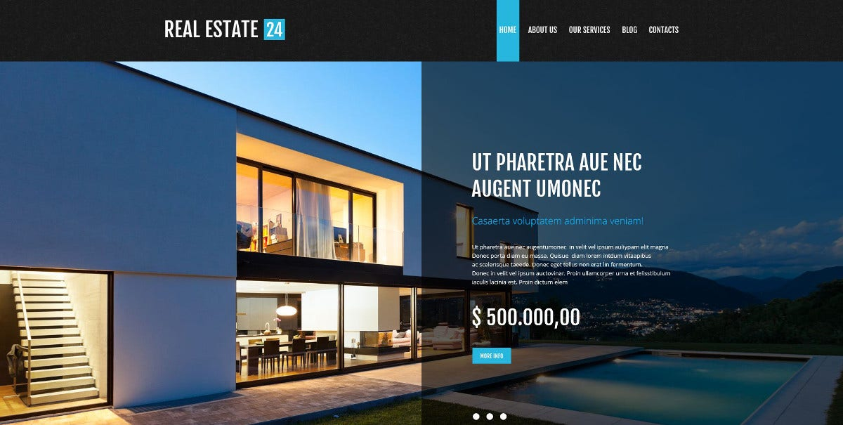 realtor services wordpress website theme 75