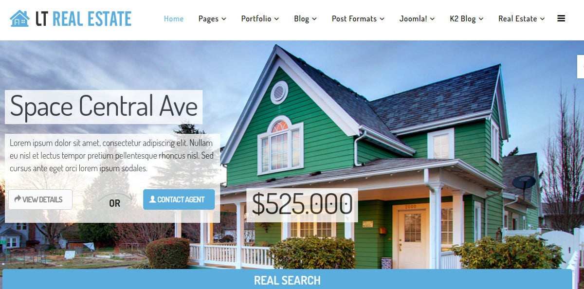 Realtor Services Joomla Template $29