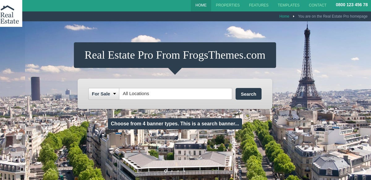 WordPress Website Theme for Real Estate Companies