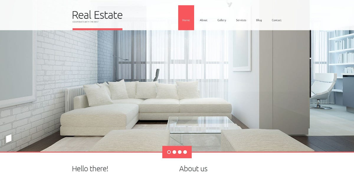 Realtor Agency Company WordPress Website Theme $75