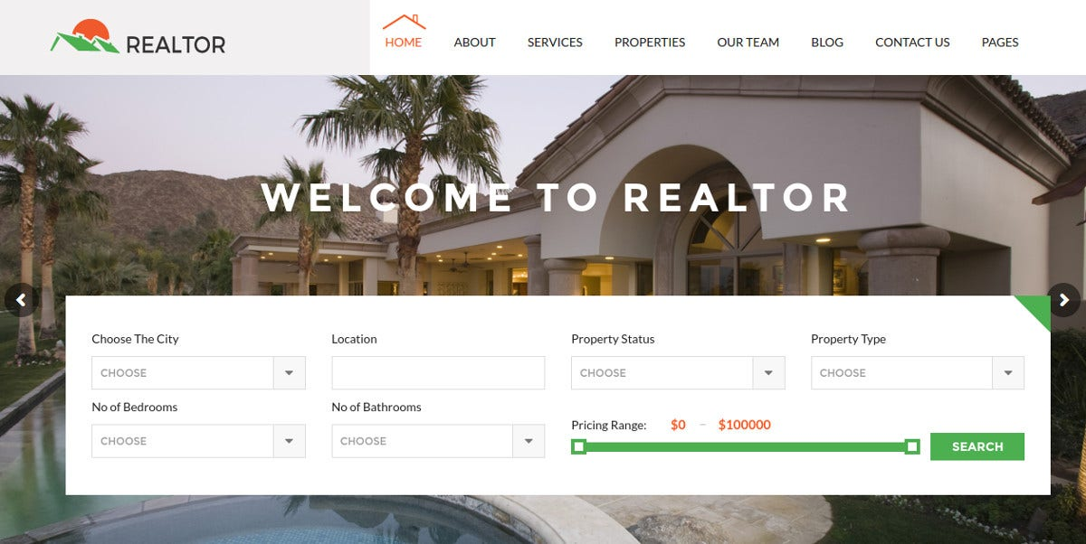 Realtor & Inventory WordPress Website Theme $49