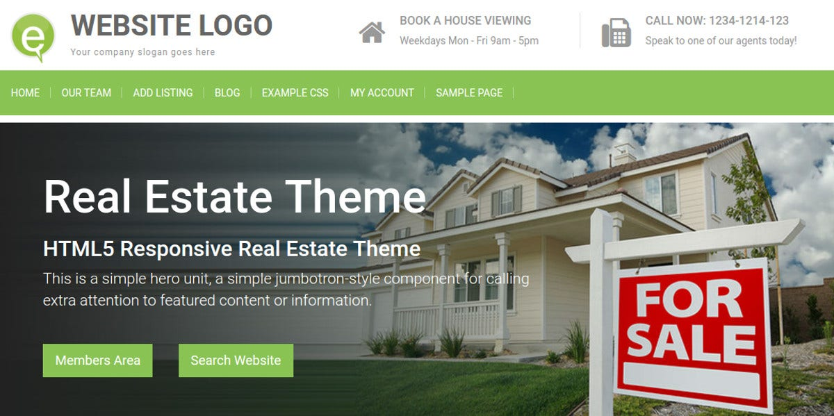 Best Realtor WordPress WP Website Theme