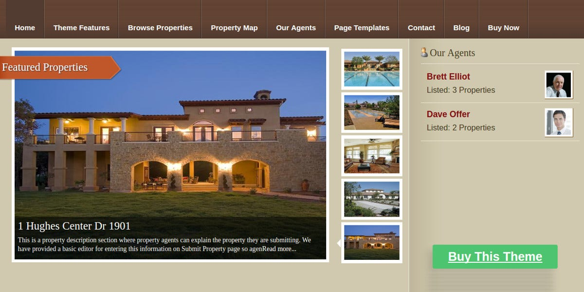 Real Estate Portal WordPress WP Website Theme