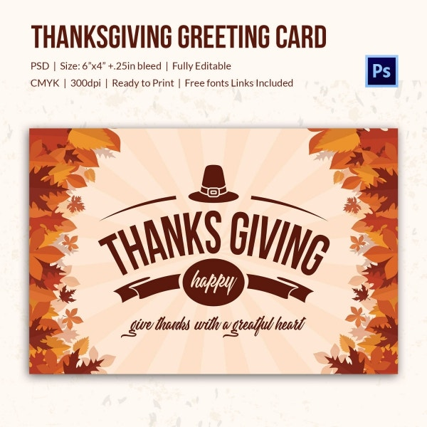 thanks giving greeting card 1