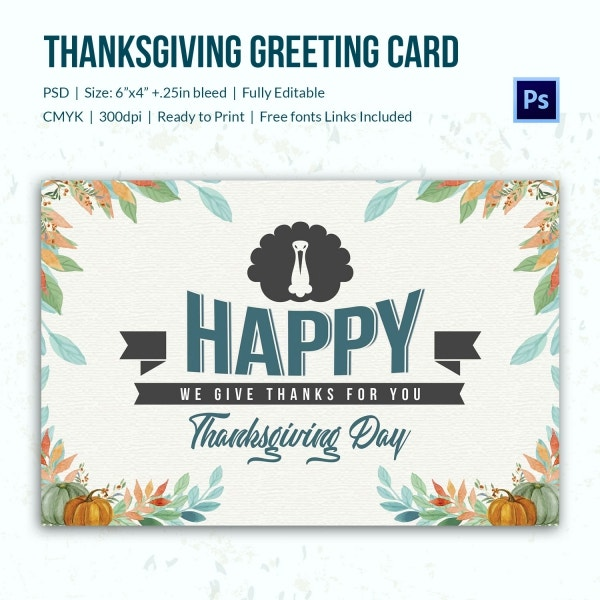 Thanksgiving Gay Greeting Card Template