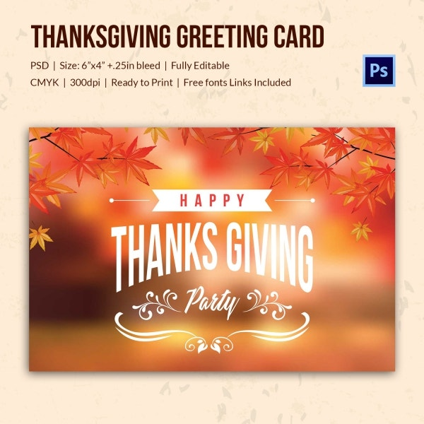thanks giving greeting card 2