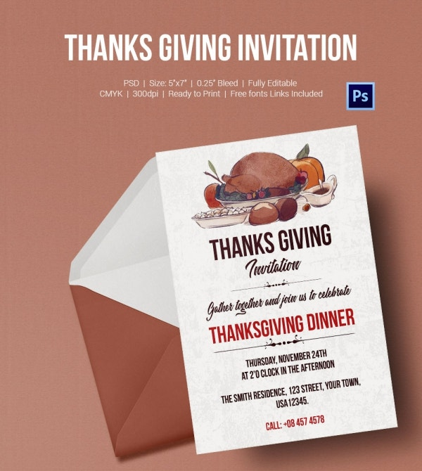 Thanksgiving Dinner Invitation Template