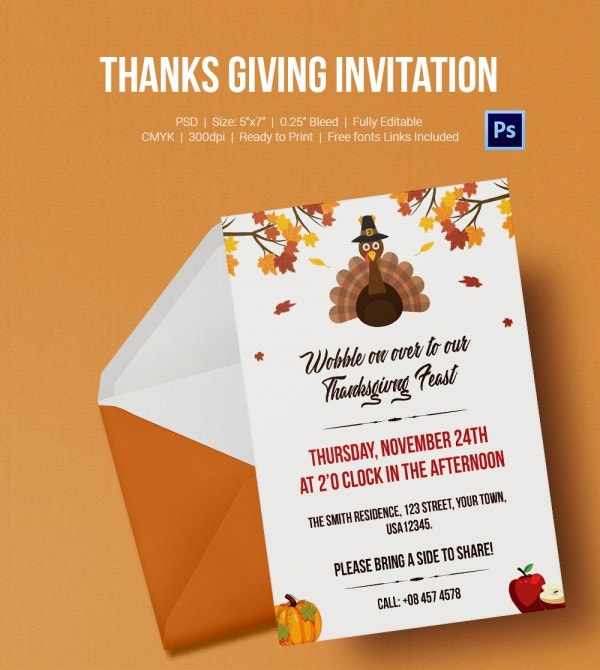 Thanksgiving Fest Invitation Template