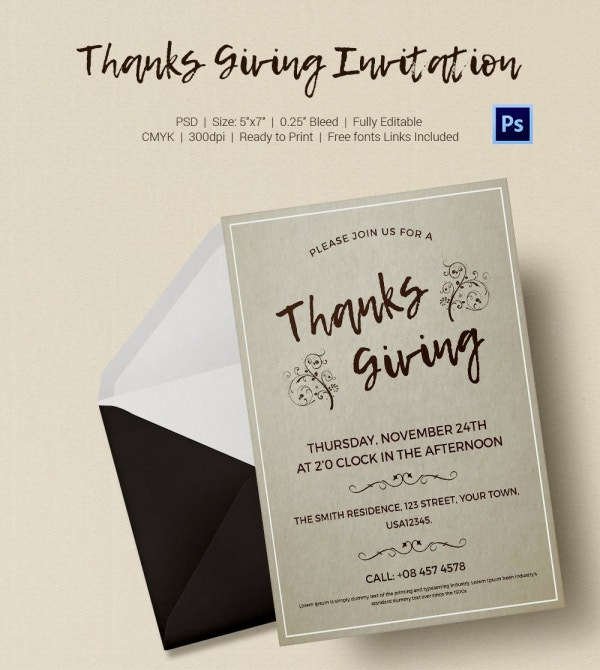 Thanksgiving Invitation Free Download