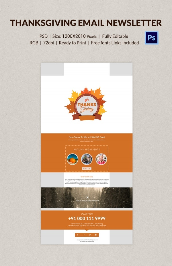 76 thanksgiving templates editable psd ai eps format download thanksgiving email newsletter free download spiritdancerdesigns Images