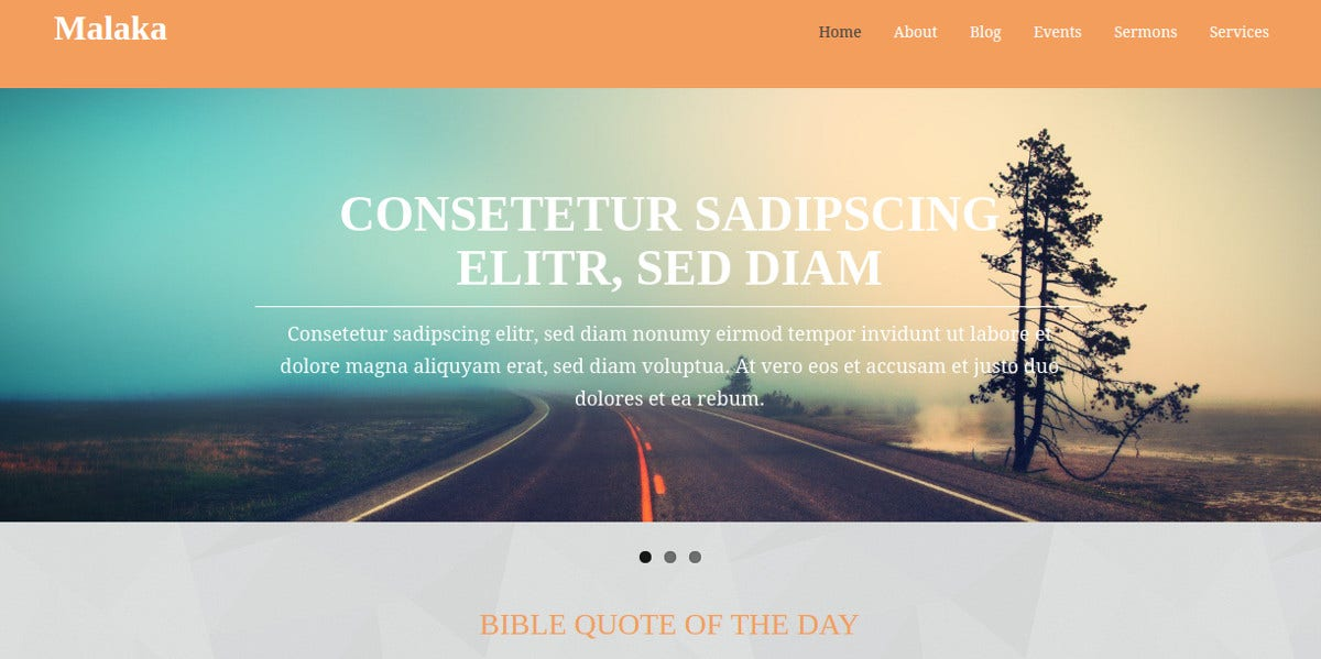 Free Premium Church Website Theme