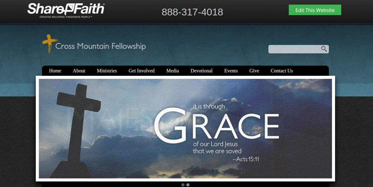 Church Majesty Website Template for Free