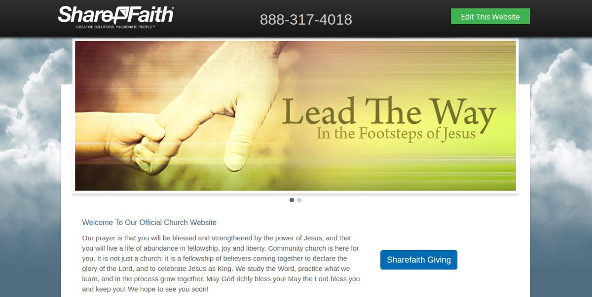 Community Church Website Template to Download