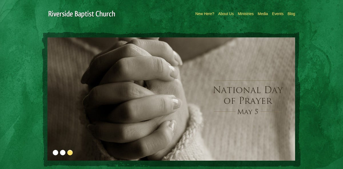 Free Baptist Church WordPress Website Theme