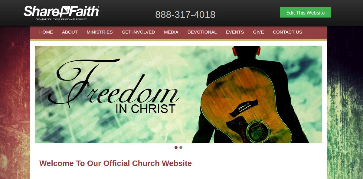Official Church Website Theme