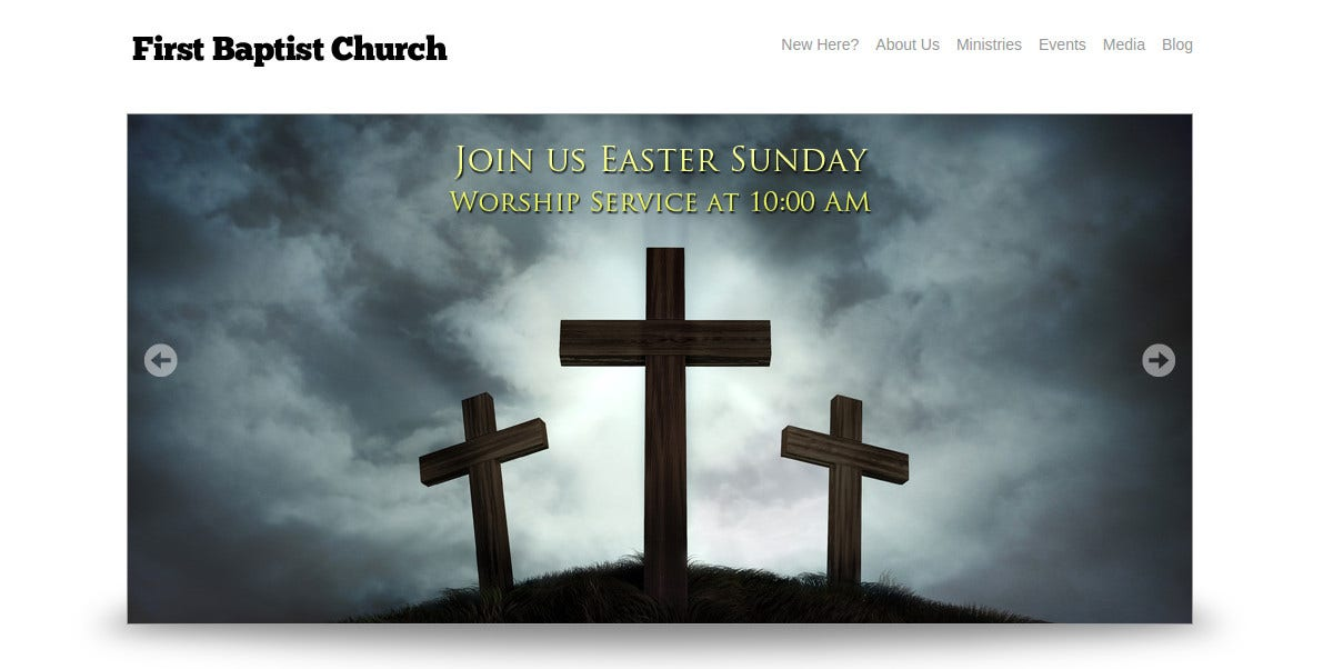 Free Simple Church Website Theme
