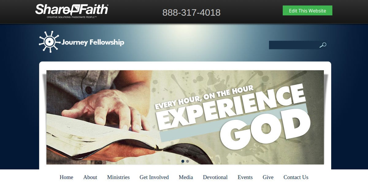 Mission Church Website Template