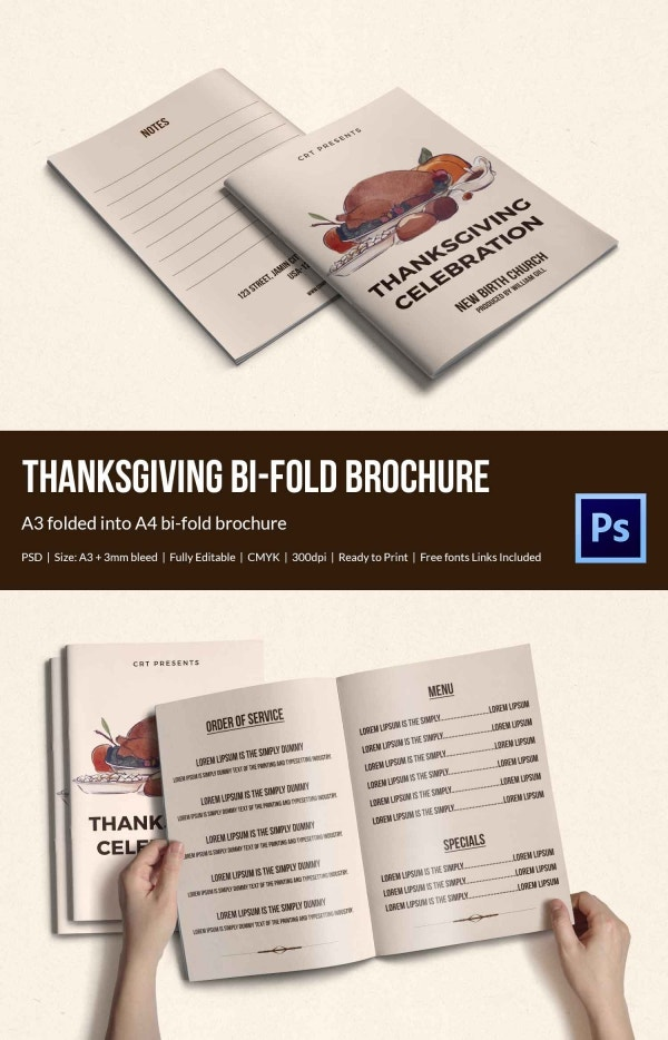 Thanksgiving Celebration Brochure Template