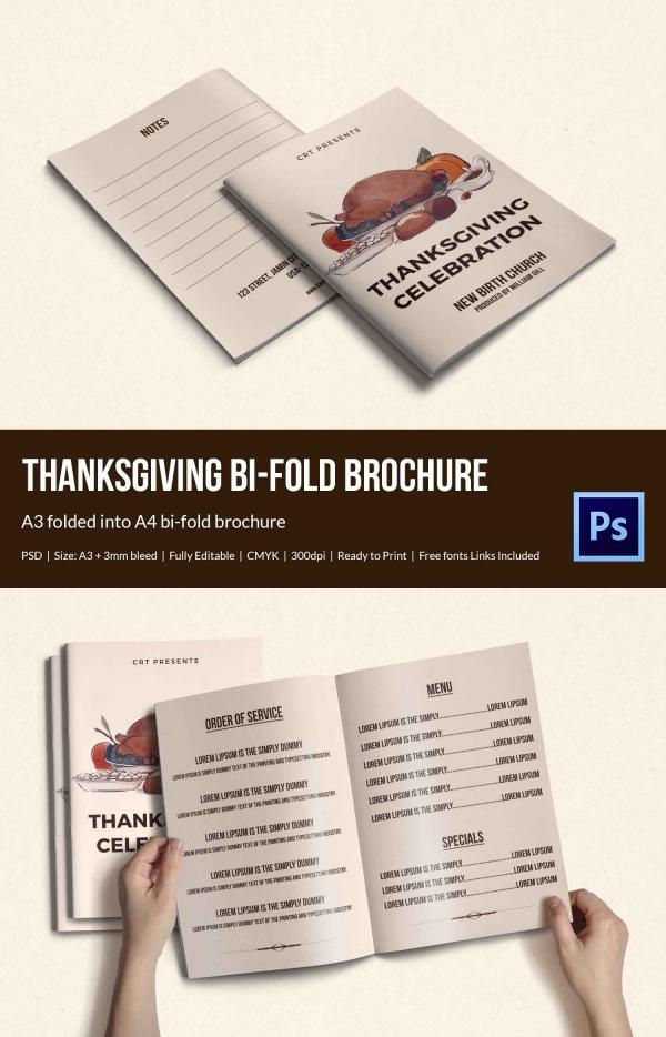 Thanksgiving Celebration Brochure Template