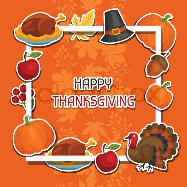 happy thanksgiving day holiday sticker