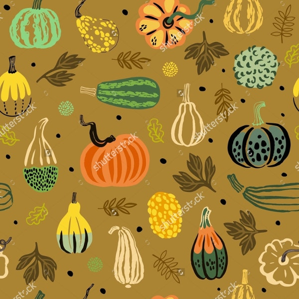 Fun Vegetables Thanksgiving Pattern