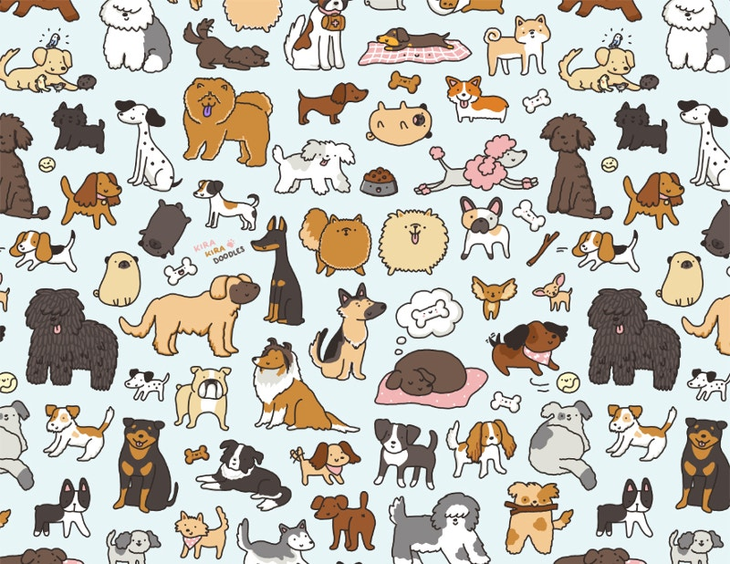 animals-doodle-patterns