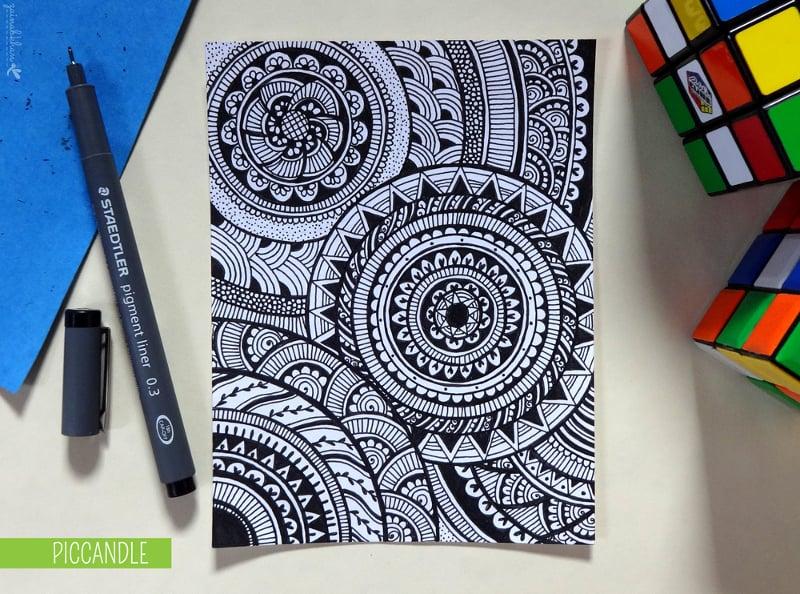 doodle circular pattern design