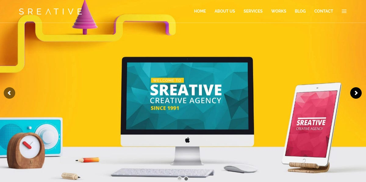 Creative Digital Agency WordPress Theme $44