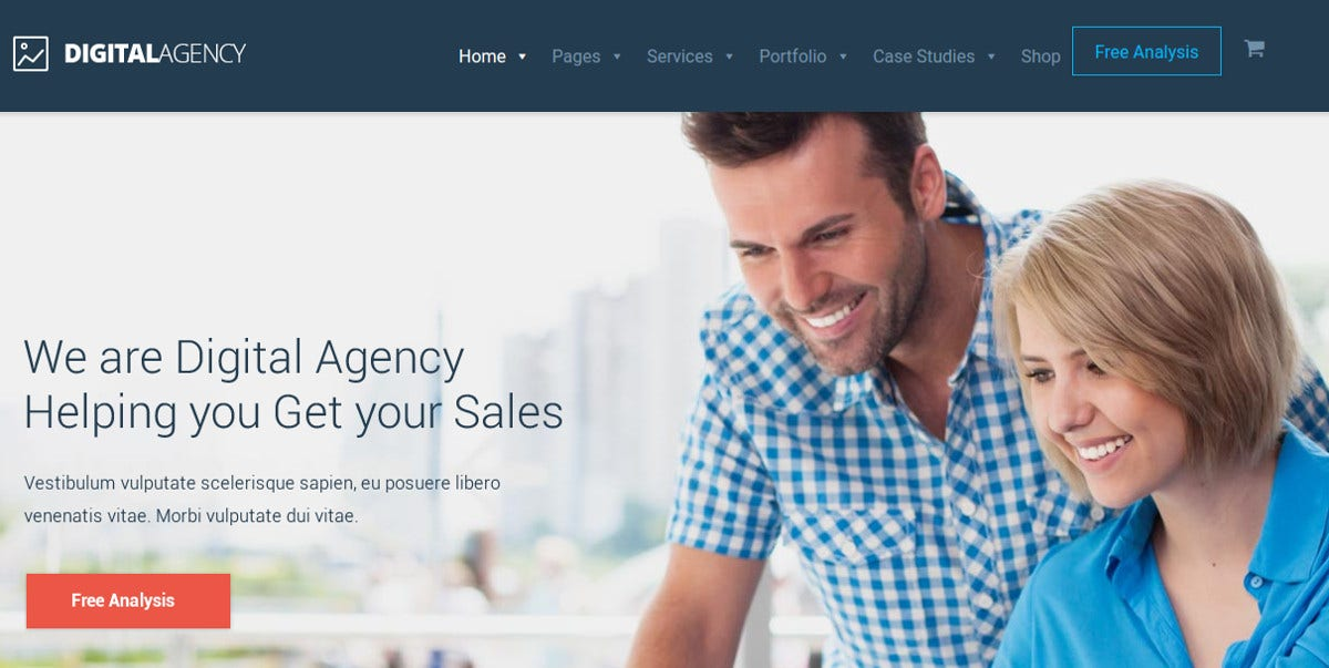Digital Agency SEO Multi-Purpose WordPress Theme $59