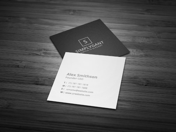 Square Business Cards Free PSD EPS Illustrator Format - Square business card template