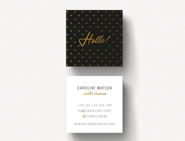 Dotty Pattern Business Card