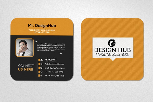 22 square business cards free psd eps illustrator format mini social business card template reheart Gallery