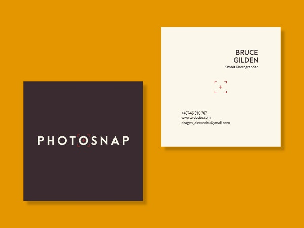 Square Photosnap Business Card
