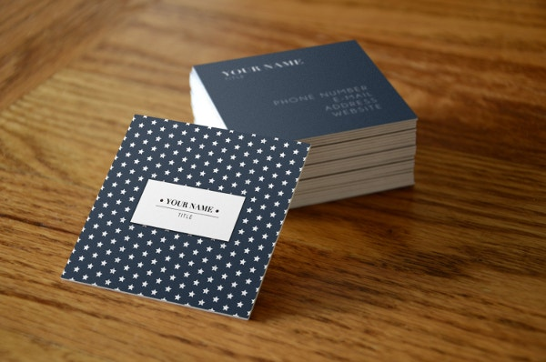 stars square business card