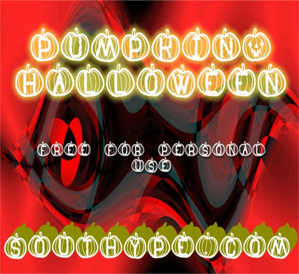 pumpkin halloween thanksgiving st font