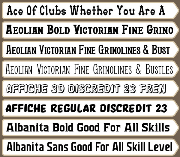 Harold's Thanksgiving Fonts Download