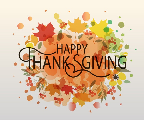 happy thanksgiving day vector template