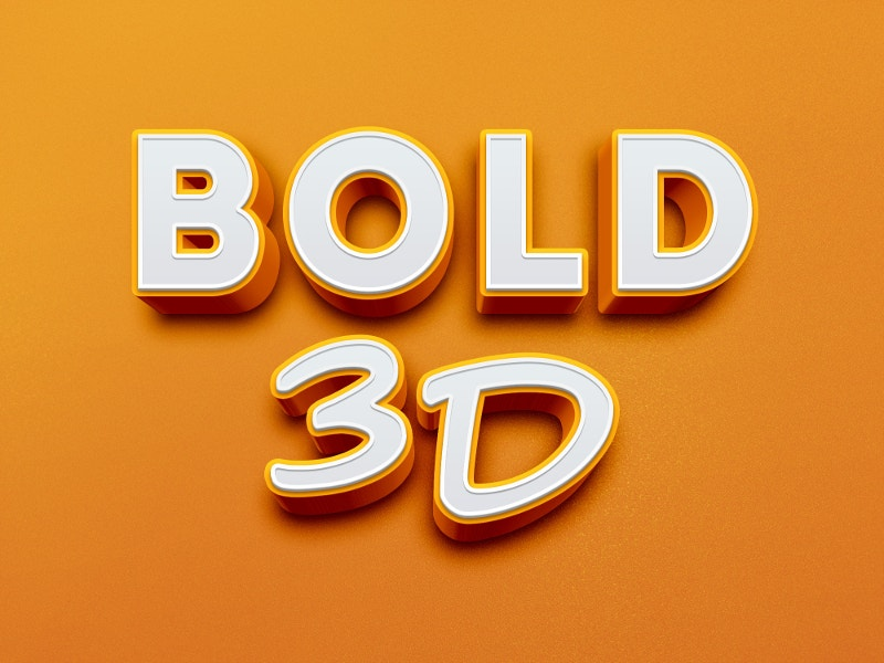 22+ Examples of 3D Text Effects for Designers - PSD, AI | Free