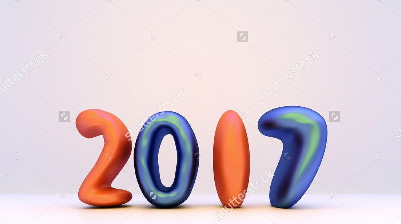 3d-rendering-2017-happy-new-year-text