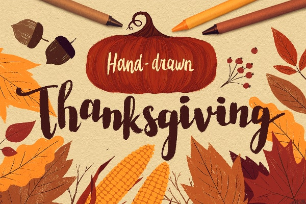 hand drawn thanksgiving illustrations