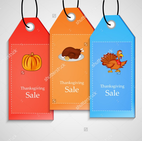 thanksgiving sale tag